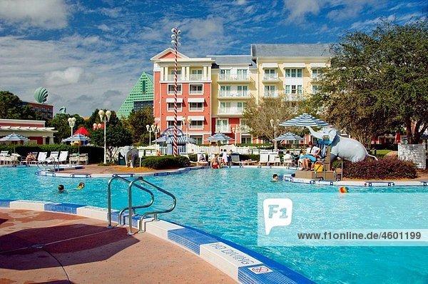 The swimming pool at Disney¥s Boardwalk Resort in Lake Buena Vista  Florida  USA  2008