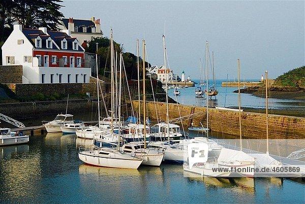 Port of Sauzon  Belle-Å'le-en-Mer. Morbihan  Bretagne  France