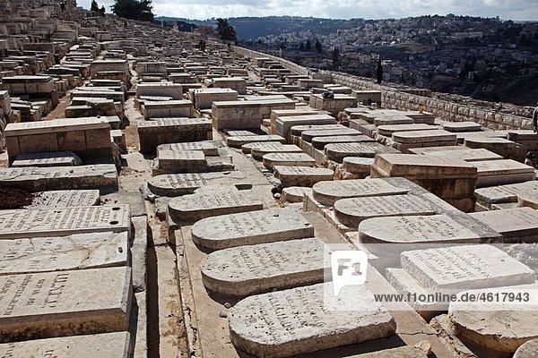 Israel Jerusalem Mount of Olives Jewish cemetery
