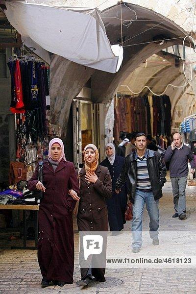 Israel Jerusalem Muslim Quarter markets Baazar Muslim