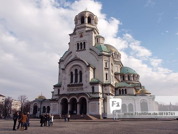 The gold-domed St. Alexander Nevsky Cathedral was built in the early 20th century in memory of the Russian soldiers  who died in the Russo-Turkish War  1877ñ1878. It is one of the largest Eastern Orthodox cathedrals in the worldÖ