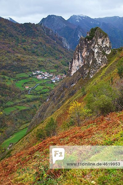 Coto Village. Parque Natural Somiedo. Asturias. Spain.
