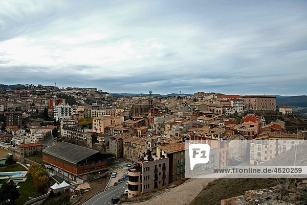 General view of the Medieval town of Cardona in the province of Barcelona  Catalonia  Spain  Europe.