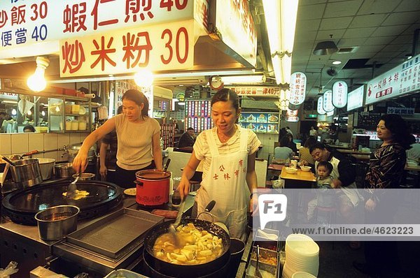 Interior of Shilin Night Market in Taipei Taiwan also known as Formosa Republic of China  East Asia