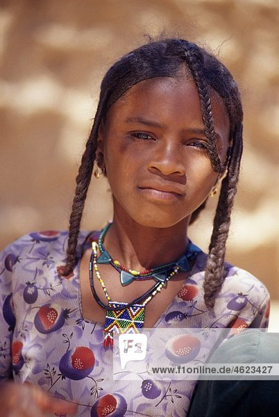 Tuareg young woman from Timia  AÃ r Niger Western Africa