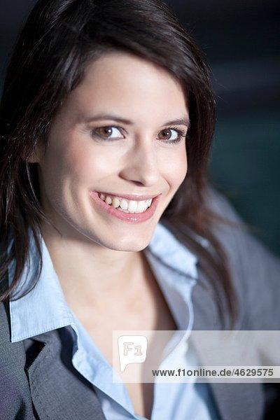 Business woman smiling  portrait