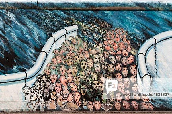 Deutschland  Berlin  Graffiti an der Berliner Mauer Deutschland, Berlin, Graffiti an der Berliner Mauer