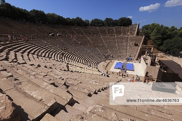 Theater  Epidaurus  Greece  2009