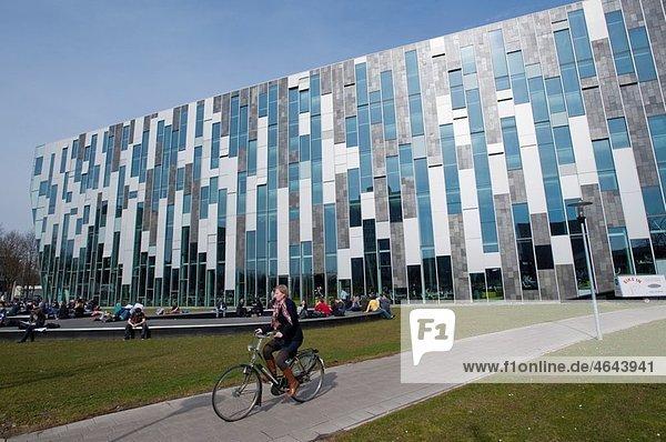 Interior of modern Dr AA Heimans van den Bergh-building at Utrecht University in The Netherlands  architect Erick van Egeraat