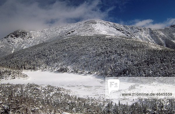 Appalachian Trail - Mount Lafayette with Eagle Lakes in the foreground Located on Greenleaf Trail Located in the White Mountains  New Hampshire USA