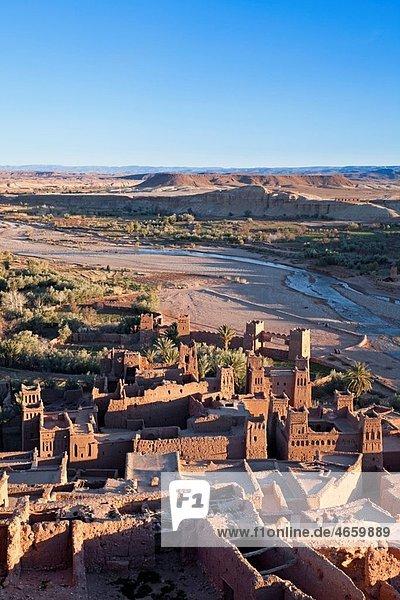 Morocco Near Ouarzazate Views from summit of Ait Benhaddou