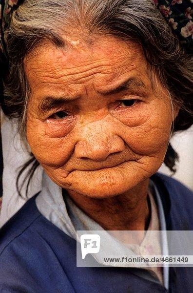 Vietnam portrait of an elderly woman