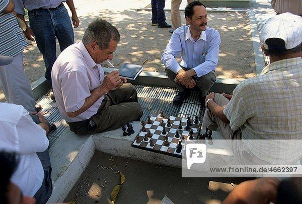 People playing chess Santa Cruz Departamento of Santa Cruz Bolivia