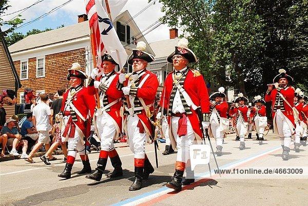 Red Coats  Bristol RI Fourth of July Parade
