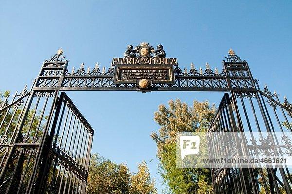 Am?rica Gate  The Retiro park. Madrid  Spain.