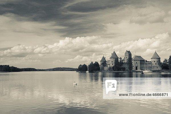 Lithuania  Trakai  Trakai Historical National Park  Island Castle on Lake Galve