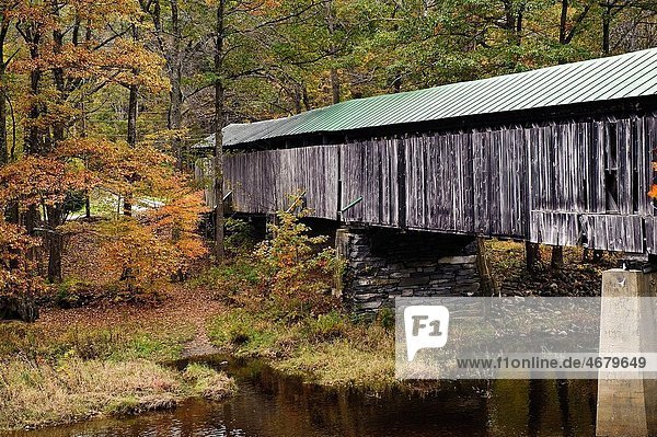 Scott covered bridge  longest in Vermont  Townshend  Vermont  VT  USA