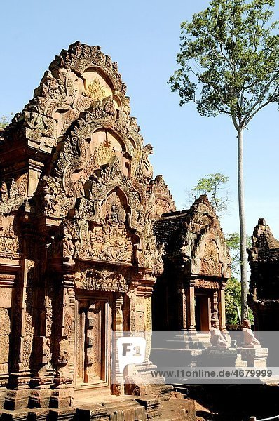 Cambodia  Siem Reap  Angkor classified World Heritage by UNESCO  the temple of Banteay Srei said the citadel of women  one of the oldest temples of Angkor