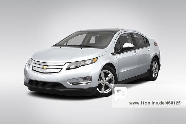 frontal Ansicht Flachwinkelansicht Chevrolet Silber Winkel