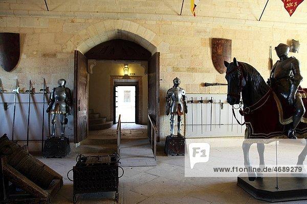 Interior view of the Alcazar de Segovia  Spain