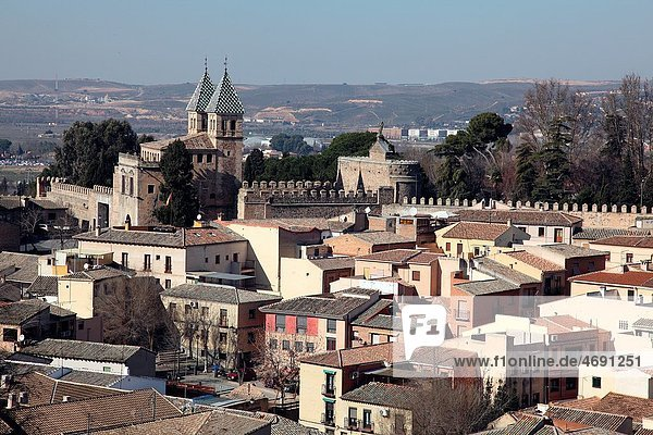 Panoramic View of the City of Toledo Castilla La Mancha  Toledo  Spain