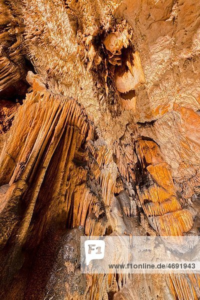 The Baradla Show Cave in the Aggtelek National Park  Hungary The Baradla Cave in Aggtelek National Park is part of the UNESCO world heritage site of the caves of the Aggtelek and slovak karst The cave is one of the major attractions of Hungary with abou
