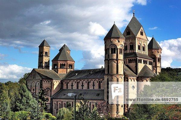 Maria Laach Abbey 12th century  near Andernach  Rhineland Palatinate  Germany Maria Laach Abbey 12th century, near Andernach, Rhineland Palatinate, Germany