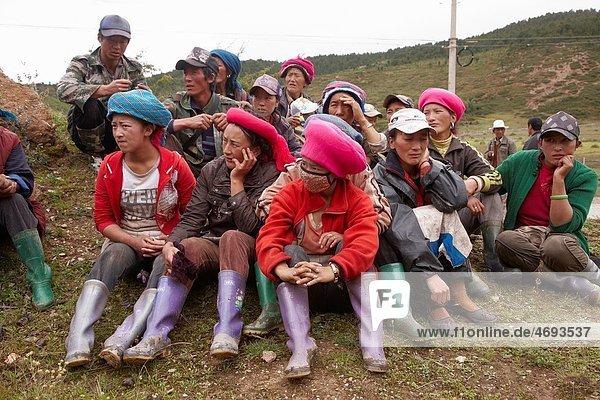 Local ethnic Valley  Zhongdian Shangri-La Valley Valley  Shangri-La Zhongdian  Yunnan  China