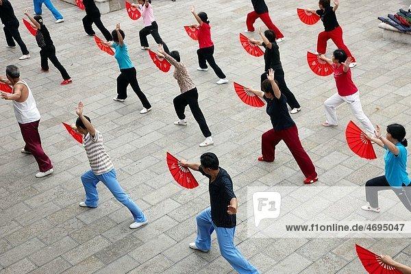 Tai chi  Anshun  Guizhou  China