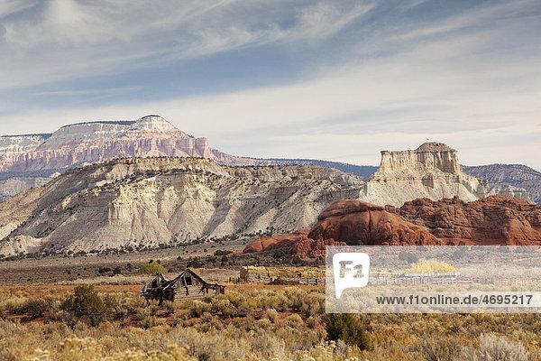 Landschaft an der Skutumpah Road  Utah  USA  Amerika