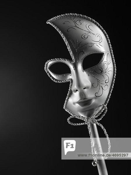 Silberne venezianische Maske