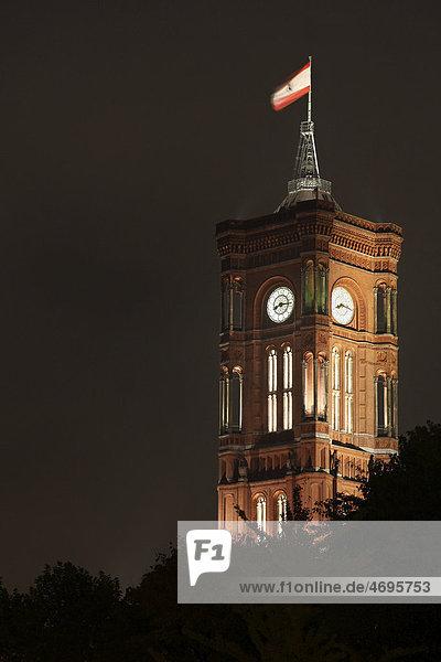 Das Rote Rathaus  Sitz des regierenden Bürgermeisters  Mitte  Berlin  Deutschland  Europa