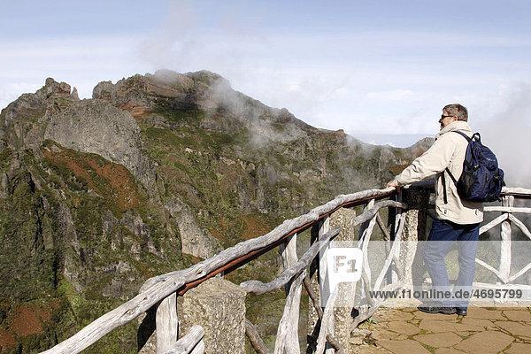 Pico do Areeiro oder Pico do Arieiro  Madeira  Portugal  Europa