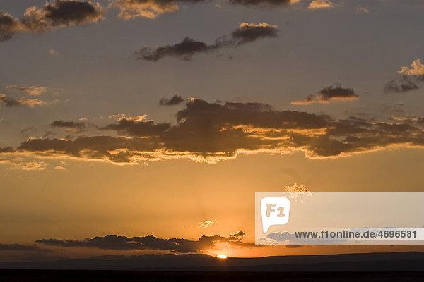 Sonnenuntergang in San Pedro de Atacama  Atacamawüste  Chile  Südamerika