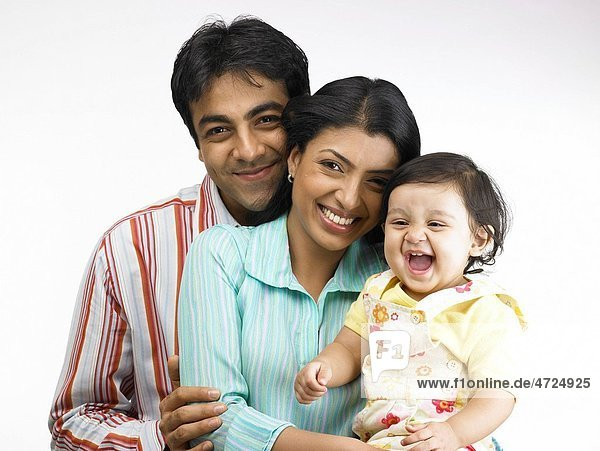 Indian parent with baby girl MR702O 702A 702L