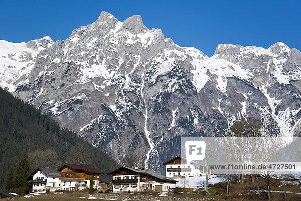 Berg in den österreichischen Alpen in Werfen  Österreich  Europa
