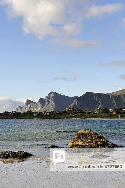 Am Strand  Lofoten  Nord-Norwegen  Norwegen  Skandinavien  Europa
