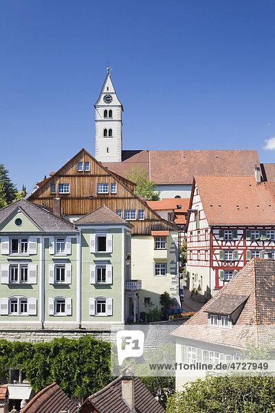 Oberstadt in Meersburg  Bodensee  Baden-Württemberg  Deutschland  Europa