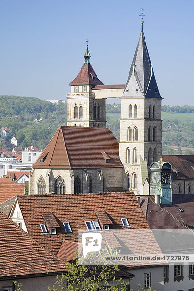 Stadtkirche  Esslingen am Neckar  Baden-Württemberg  Deutschland  Europa