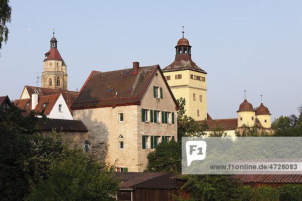 Stadtmauer  Ellinger Tor  Weißenburg in Bayern  Mittelfranken  Franken  Bayern  Deutschland  Europa