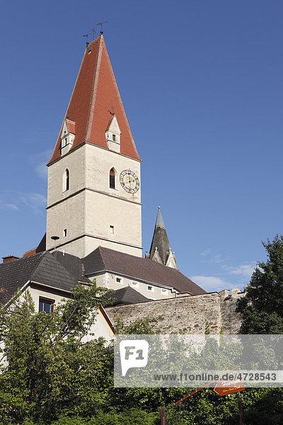 Wehrkirche  Weißenkirchen in der Wachau  Waldviertel  Niederösterreich  Österreich  Europa