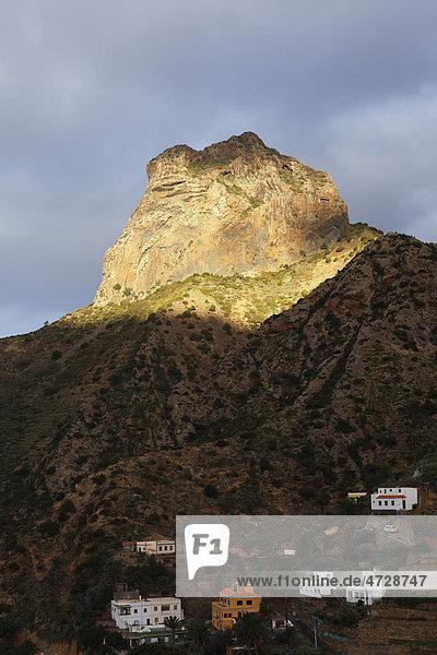 Berg Roque Cano bei Vallehermoso  La Gomera  Kanaren  Spanien  Europa