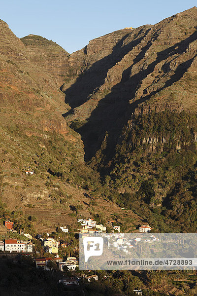La Vizcaina  oberes Valle Gran Rey  La Gomera  Kanaren  Spanien  Europa Insel La Gomera