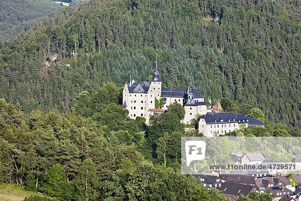 Burg Lauenstein  Lauenstein district  Ludwigsstadt  County Kronach  Upper Franconia  Bavaria  Germany  Europe