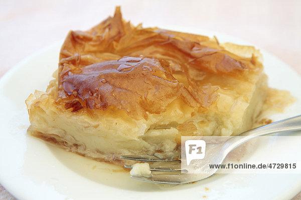 Galaktoboureko  griechisches Puddingtörtchen