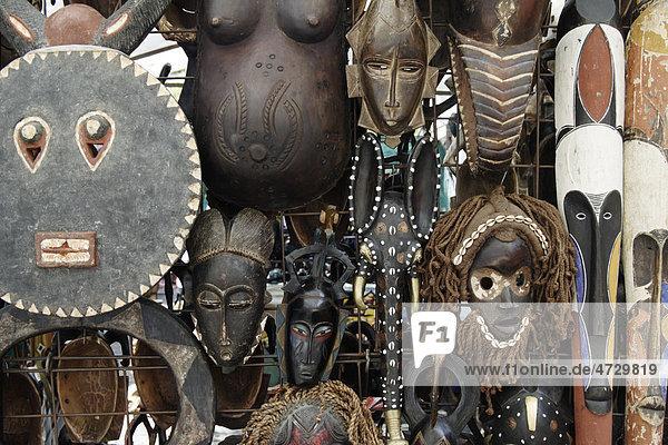 Afrikanische Masken  Kapstadt  Südafrika  Afrika