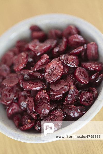 Getrocknete Cranberrys  Cranberries  in einer Schüssel
