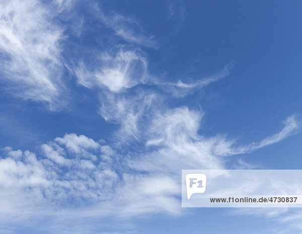 Swirling clouds in the sky
