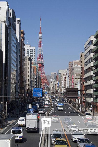 Traffic in Tokyo  Japan  Asia