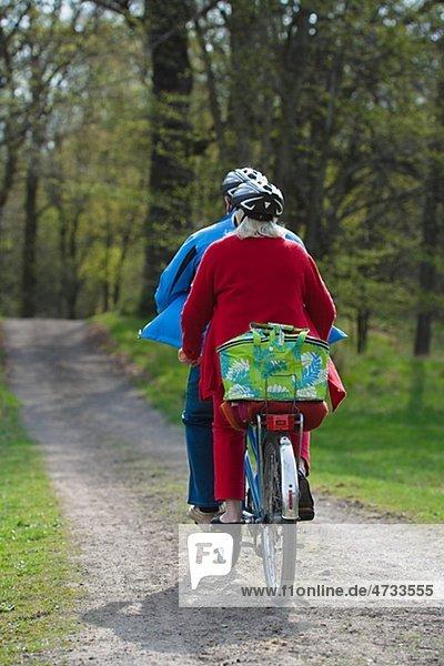 Senior Senioren Fahrrad Rad Tandem